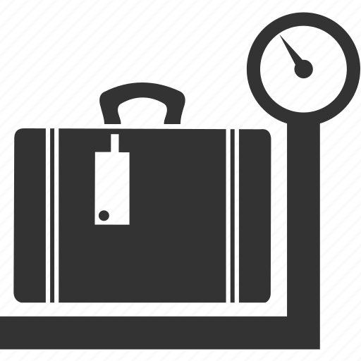 bag, balance, food, kitchen, scales, suitcase, weight icon