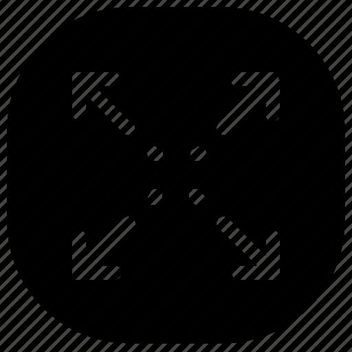 expand, resize, scaling icon