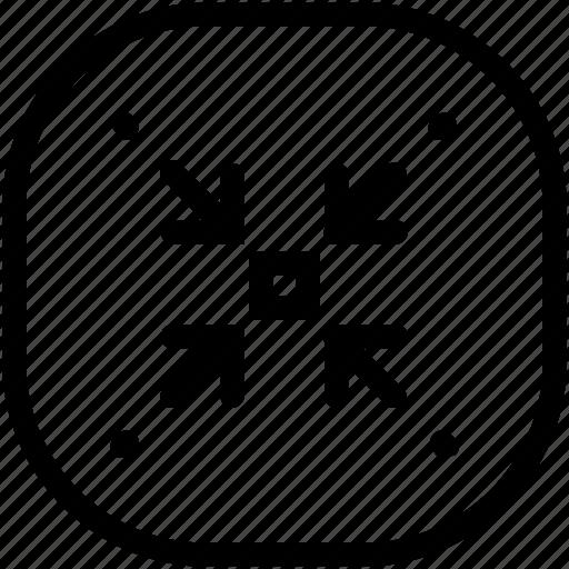 edit, minimize, resize icon