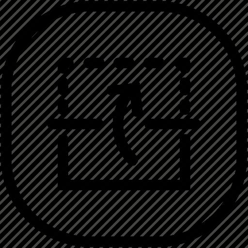 arrow, reflect, up icon