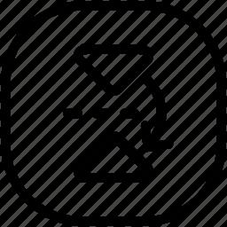 arrow, move, reflect icon