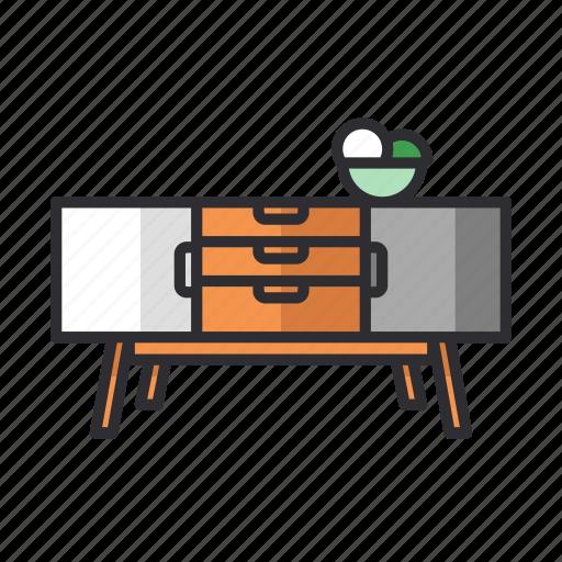 cabinet, furniture, scandinavian, sideboard icon