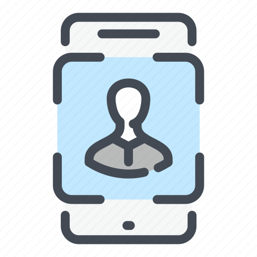 Scan, face, id, mobile, phone, scanning, recognition icon - Download on Iconfinder