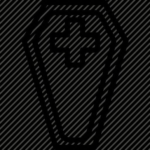 burial, cemetery, coffin, death icon
