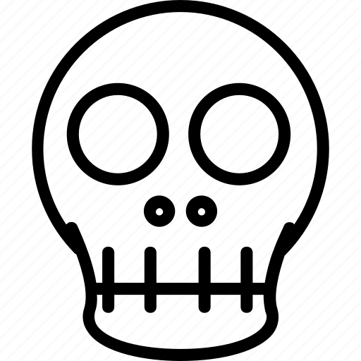 bones, dead, skeleton, skull icon