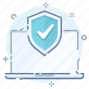 antivirus, computer, laptop, protection, safe, security, shield icon