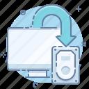backup, computer, copy, data, drive, export icon