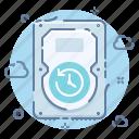 backup, cloud, data, drive, hard, save, schedule icon
