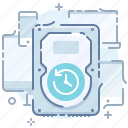 backup, data, devices, drive, hard, save, time icon