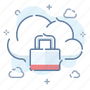 lock, data, cloud