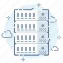 cloud, data, hosting, internet, rack, server, technology icon