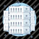 cloud, data, hosting, internet, rack, servers, technology icon