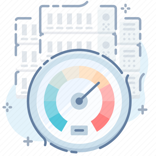 dashboard, gauge, high, performance, server, speed, test icon