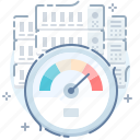 dashboard, gauge, high, performance, servers, speed, test icon