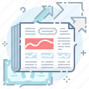 business, commercial, finance, money, news, newspaper icon