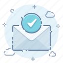 check, email, mail, message, newsletter, ok, signup icon