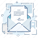 email, letter, mail, message, newsletter, sign, text icon