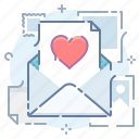 email, letter, like, love, mail, message icon