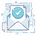 check, mail, message, newsletter icon