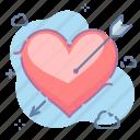 arrow, heart, valentine
