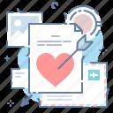 mail, romantic, valentine icon