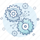 error, gears, page, process icon
