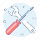 admin, control, options, screwdriver icon