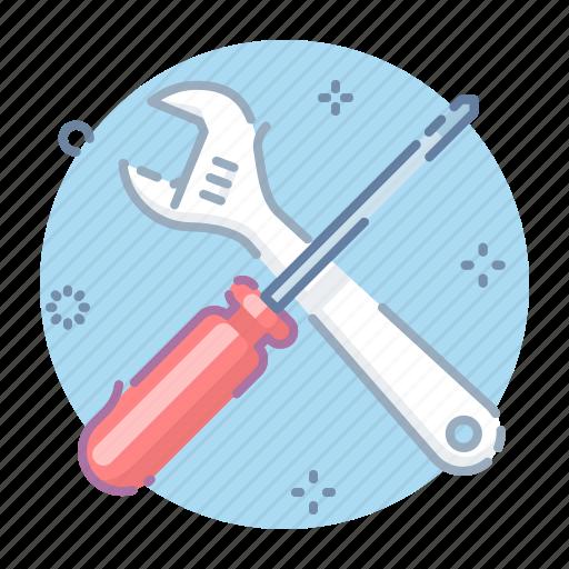 admin, control, options, screwdriver icon