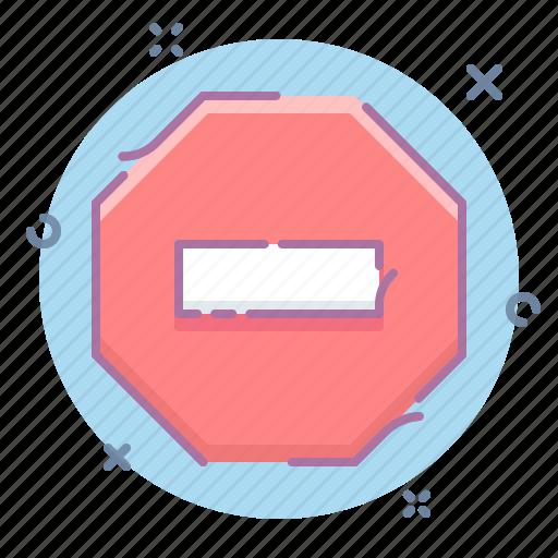 block, private, sign, stop icon
