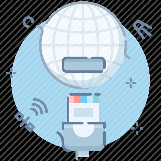 disconnect, ethernet, globe, offline icon