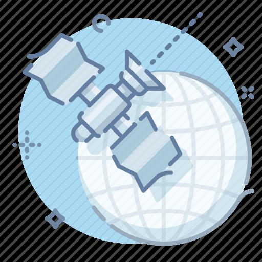 connect, globe, online, satellite icon