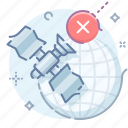 globe, offline, satellite icon