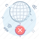 disconnect, globe, internet, offline icon