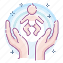 baby, care, hands icon