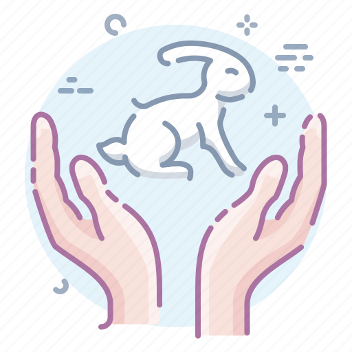 animals, care, friendly, hands icon