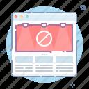 adblock, adblocker, banner, website icon