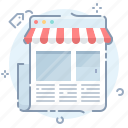 online, page, shop, website icon