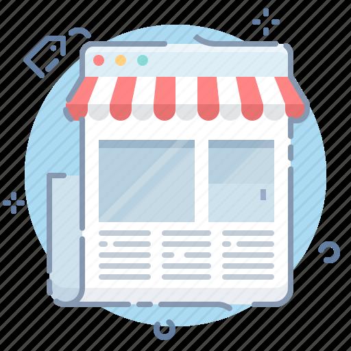 online, page, shop, website icon