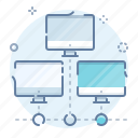 intranet, network, pc, workstation icon