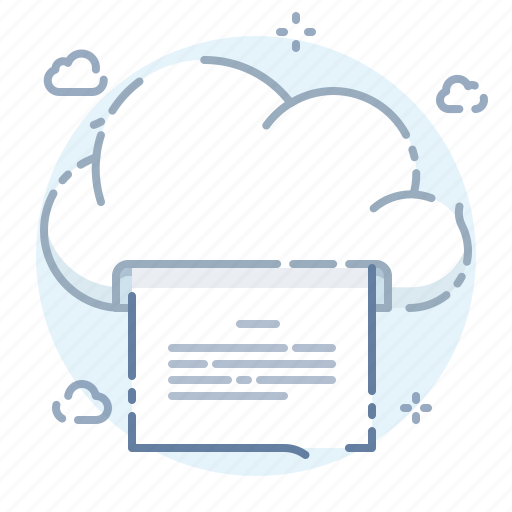 cloud, online, page, print icon