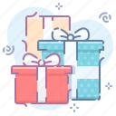 boxes, gifts, presents icon