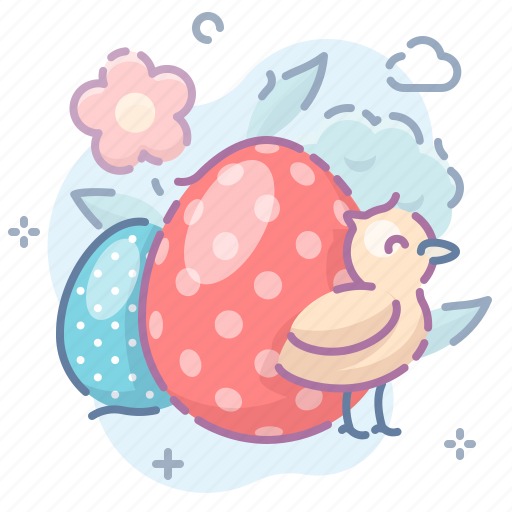 chick, easter, eggs icon