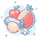fruits, vegetables icon