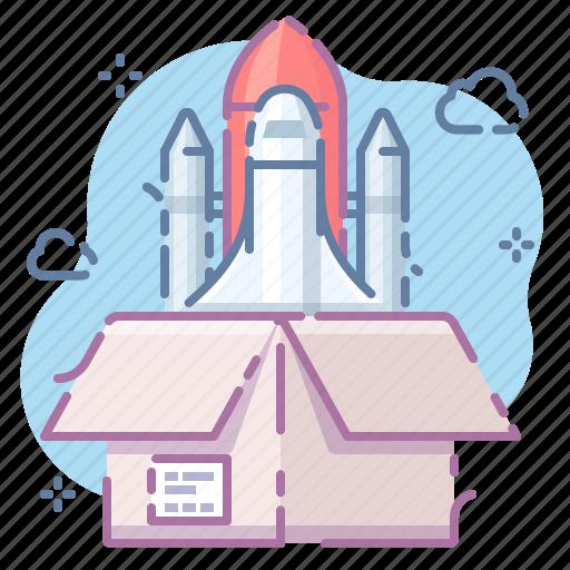 install, rocket, startup icon