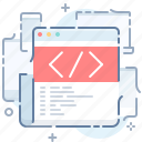 code, editor, html, website icon