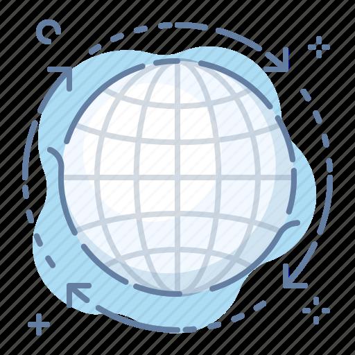 globe, transfer icon