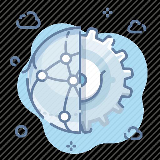 gear, network, setting icon