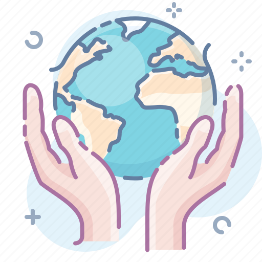 care, earth, hands icon