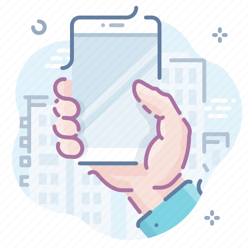 hand, hold, mobile icon