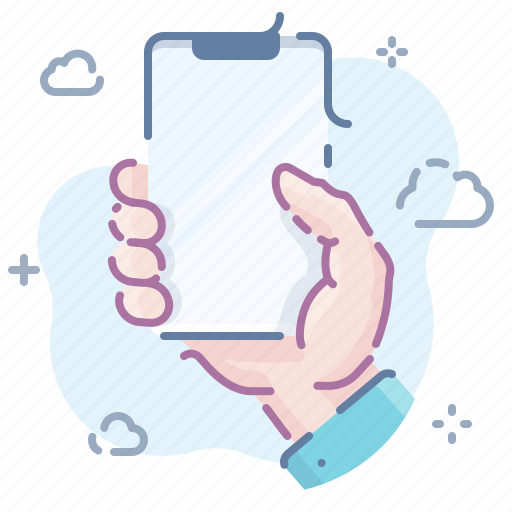 Hand, hold, smartphone icon - Download on Iconfinder